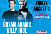 Bryan Adams & Billy Idol | August 9th