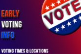 Voting times and locations in Monroe County