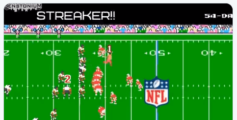 WATCH: Someone Added the SuperBowl Streaker to Tecmo Bowl