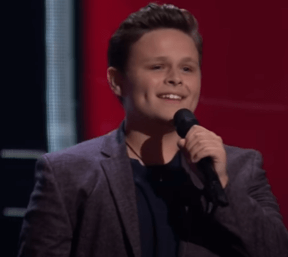 WATCH: 14 Yr old Carter Rubin Grandson of famous musician gets 2 chair turn on The Voice