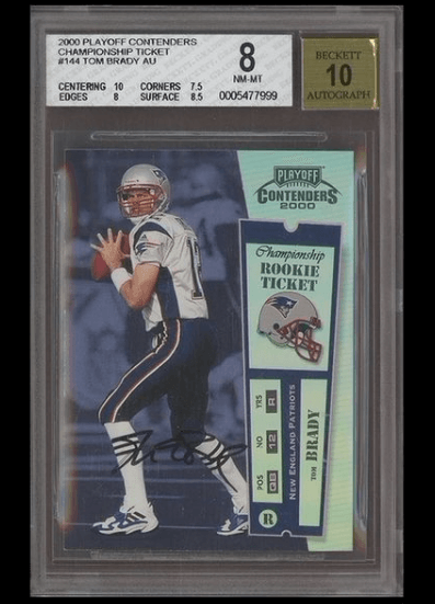 Tom Brady Rookie Card Sells for 1.3 Million